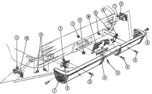 196768 Firebird Rear Bumper Illustrated Parts Break Down