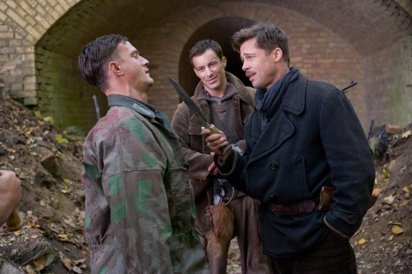 Gedeon Burkhard u filmu Quentina Tarantina 'Nemilosrdni gadovi' glumio je s Brad Pittom