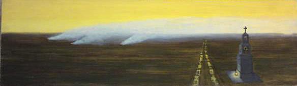 Krzysztof KlimekLandscape with a Chapel and a Road