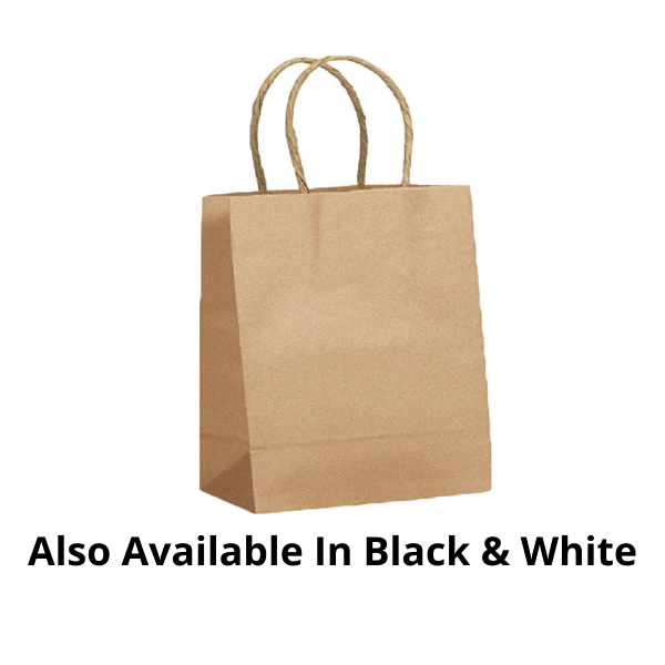Customized Twisted Handle Paper Bags - 1000 Pieces