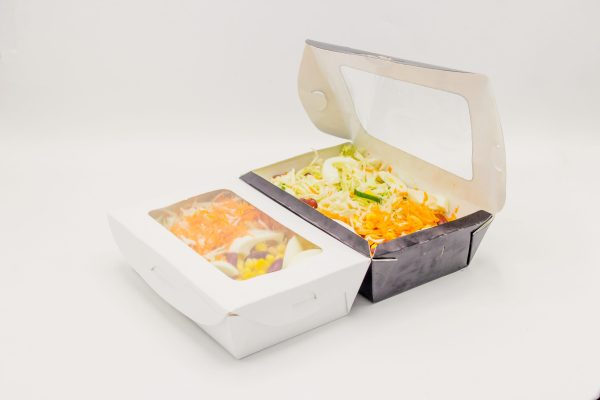 Plain Salad Packs With Window - 100 Pieces