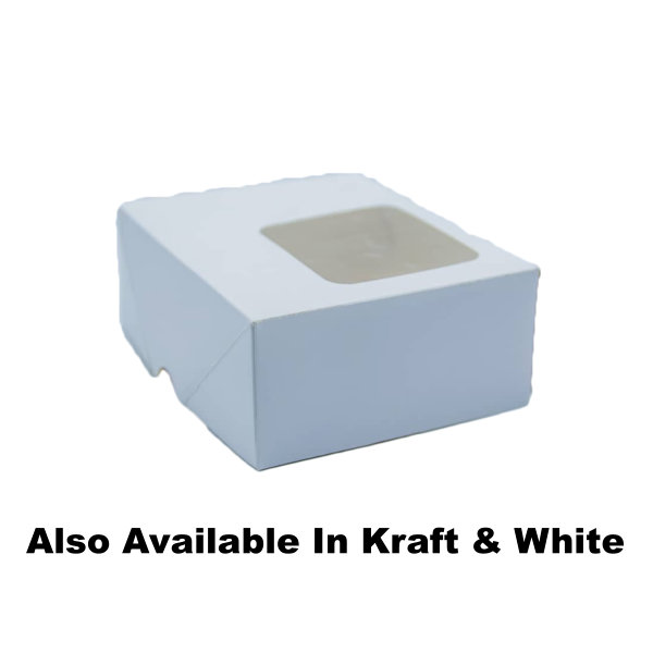 Plain Snack Boxes With Window - 100 Pieces