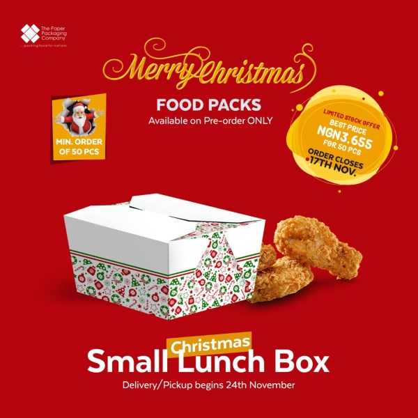 Christmas Small Lunch Box (50 Pieces)