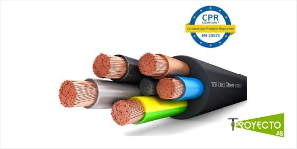 Cables CPR. Clases, etiquetados y características