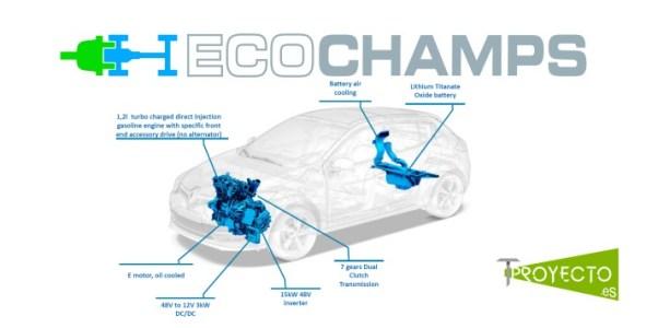 Proyecto Ecochamps Coche eléctrico
