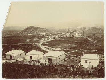 West View from North Mt Lyell Railway over Crotty Smelter site towards S Mt Jukes circa early 1902