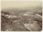 East view from hill overlooking Crotty smelter site towards the N Mt Lyell Railway 19.8.1902