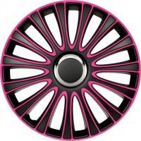 wieldoppen 16 inch LeMans | zwart/roze