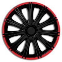 18 inch wieldoppen Nero zwart rood 1