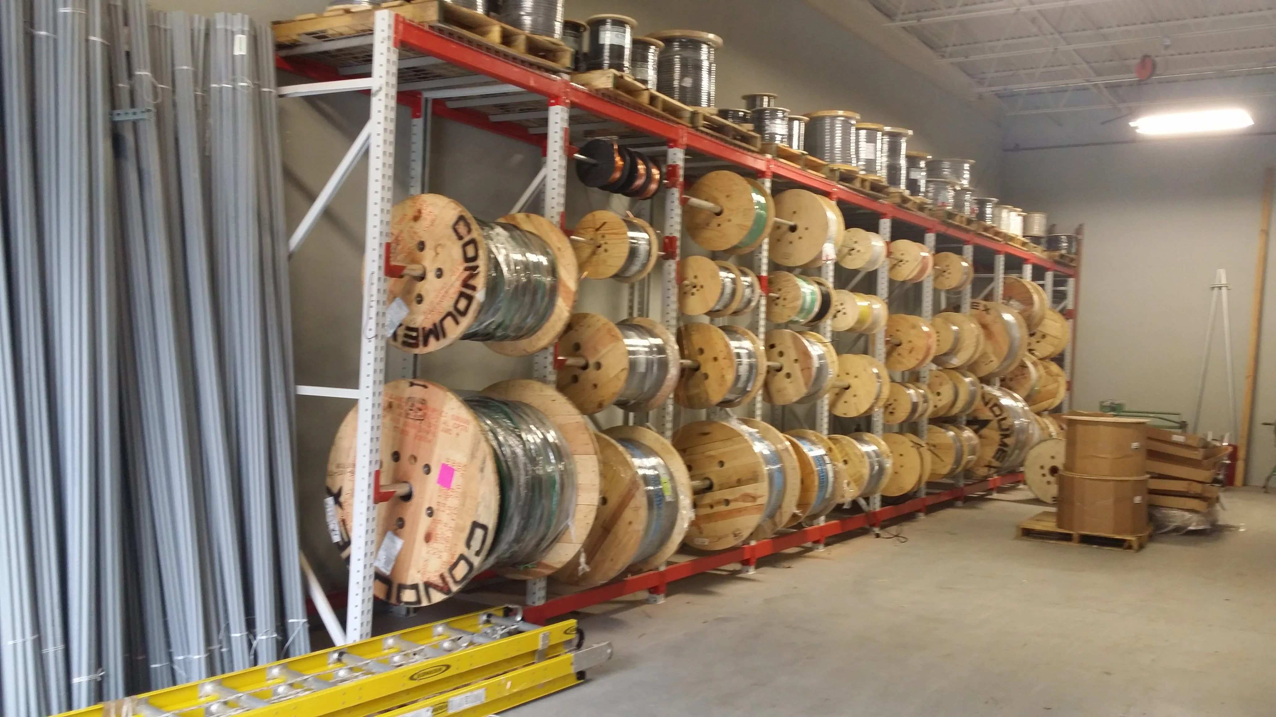 tp reconditioned teardrop cable reel