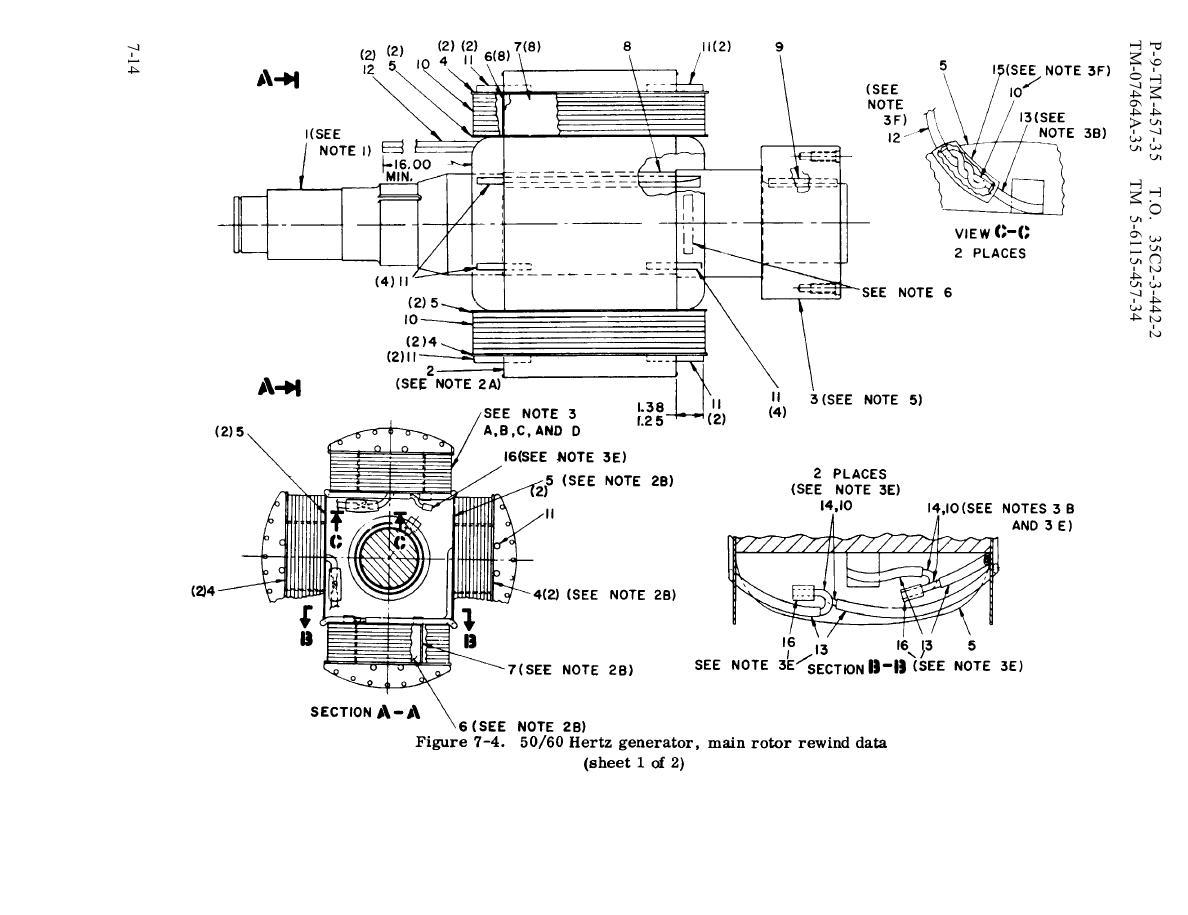 Figure 7 4 50 60 Hertz Generator Main Rotor Rewind Data