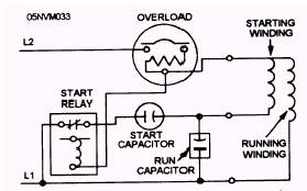 image577?resize\=279%2C174 run capacitor wiring diagram potential start relay diagram \u2022 free single phase motor wiring diagram with capacitor start capacitor run at crackthecode.co