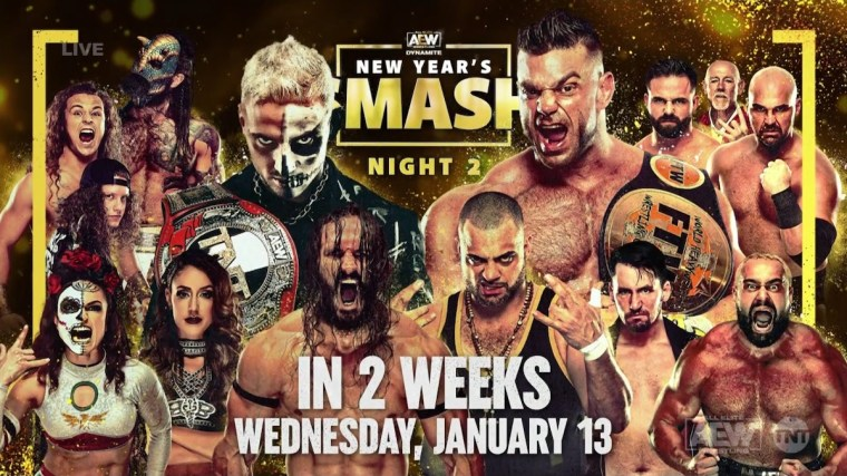 10 Matches Announced for AEW New Year's Smash Nights 1 and 2 – TPWW