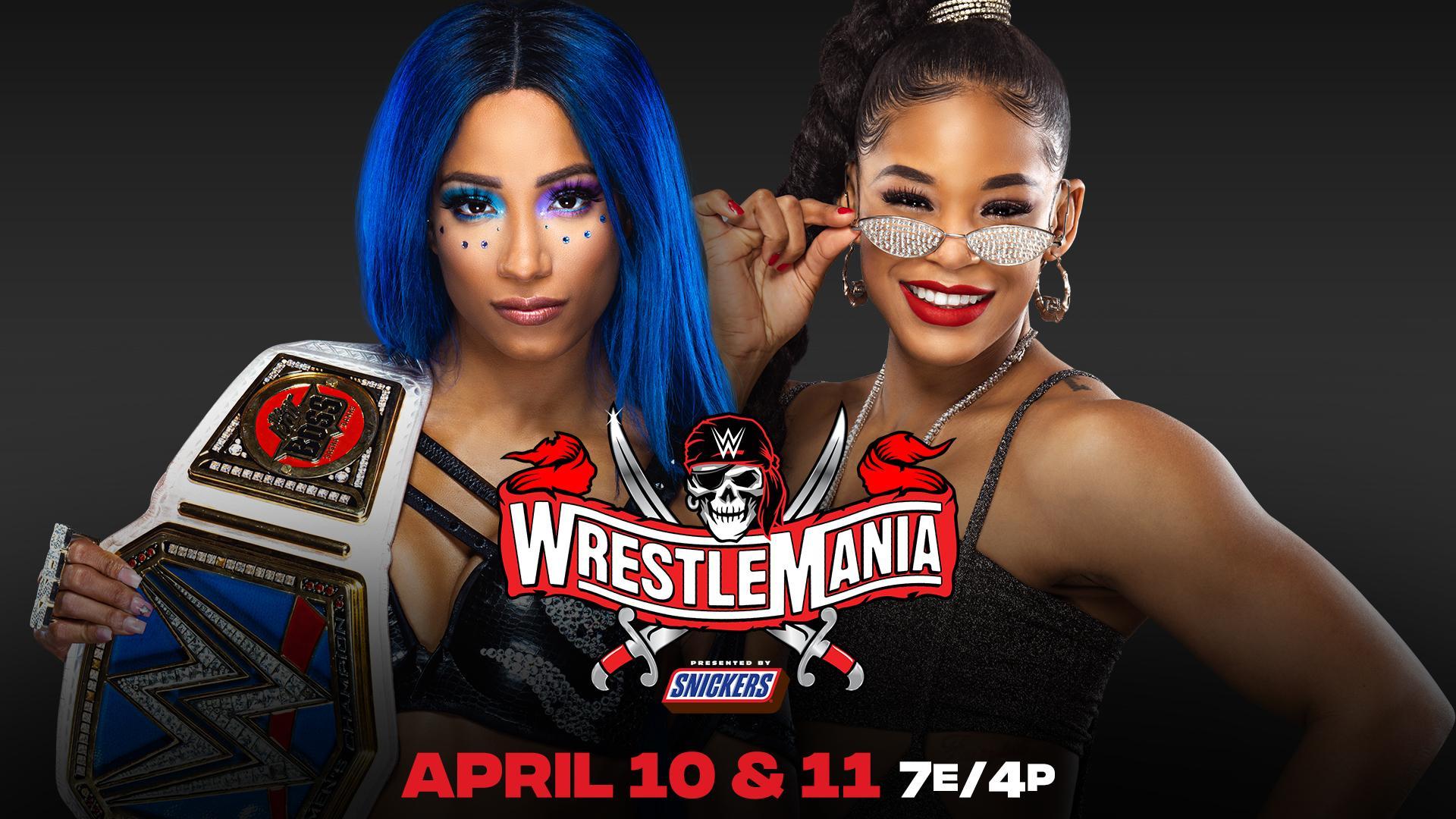 Sasha Banks vs. Bianca Belair Official for WrestleMania – TPWW
