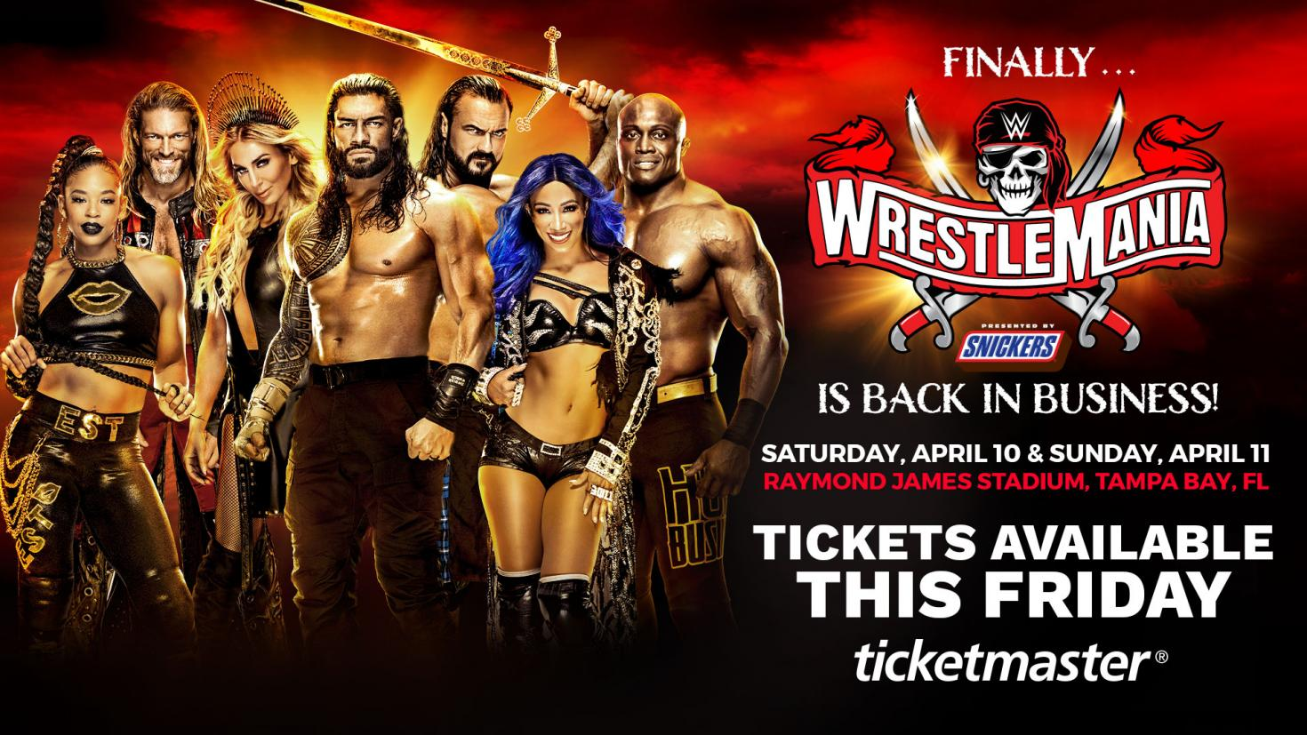 WWE Announces WrestleMania Ticket Sale Date, 25,000 Fan Capacity Expected for Each Night – TPWW