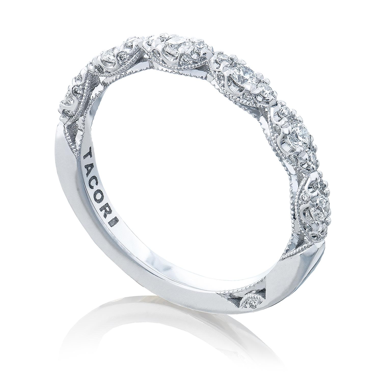 Tacori HT2558B12 18 Karat Petite Crescent Diamond Wedding