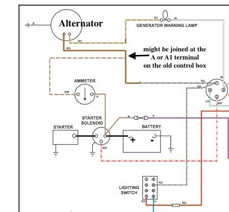 ammeter wiring with alternator  tr4/4a forum  tr register