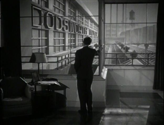 Dodsworth:  Walter Huston in opening shot.