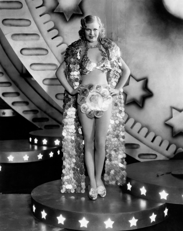 Ginger Rogers:  Her money-maker looks like a microphone.