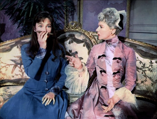Leslie Caron and Isabel Jeans:  'Of course you don't smoke cigars!  But a man does.  Everything I teach you has a good reason.'