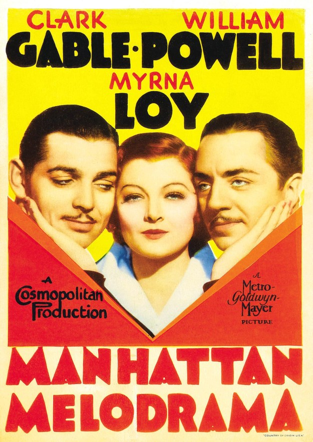 Manhattan Melodrama Original  Poster.