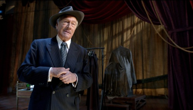 Plummer as Barrymore:  'The rain beats at the door with the persistence of an unpaid madam.'