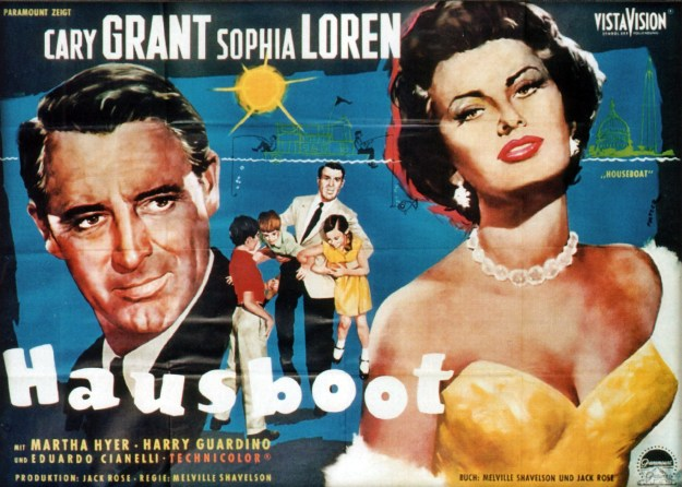 """The German Poster for """"Houseboat."""""""