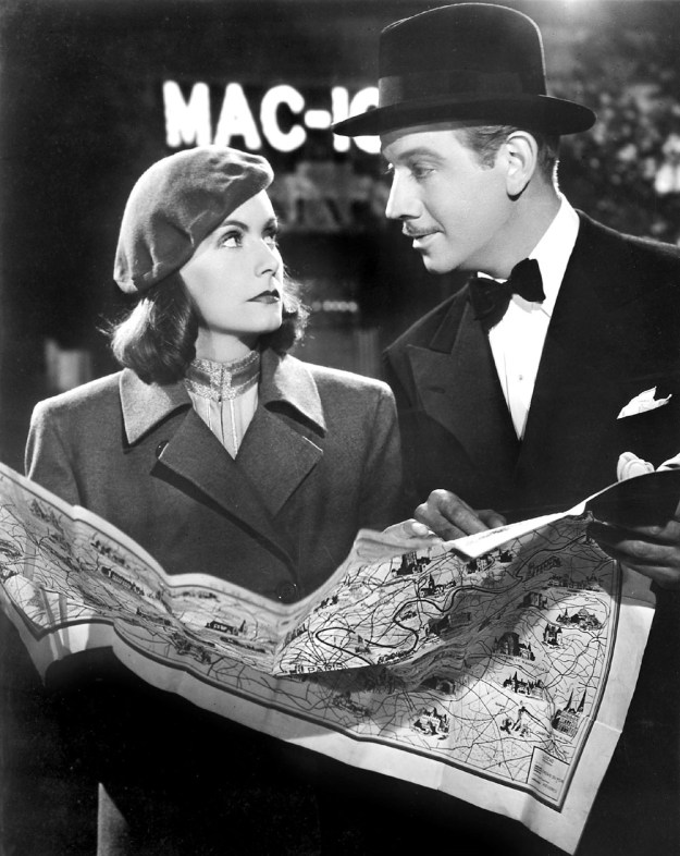 An irresistible force meets an immovable object. Greta Garbo and Melvyn Douglas meet cute in 'Ninotchka.'