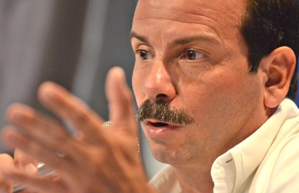 Conferecnia de prensa de Fernando González , Hérore de la República de Cuba, en el Centro Internacional de Prensa, en La Habana. Foto: Anabel Díaz