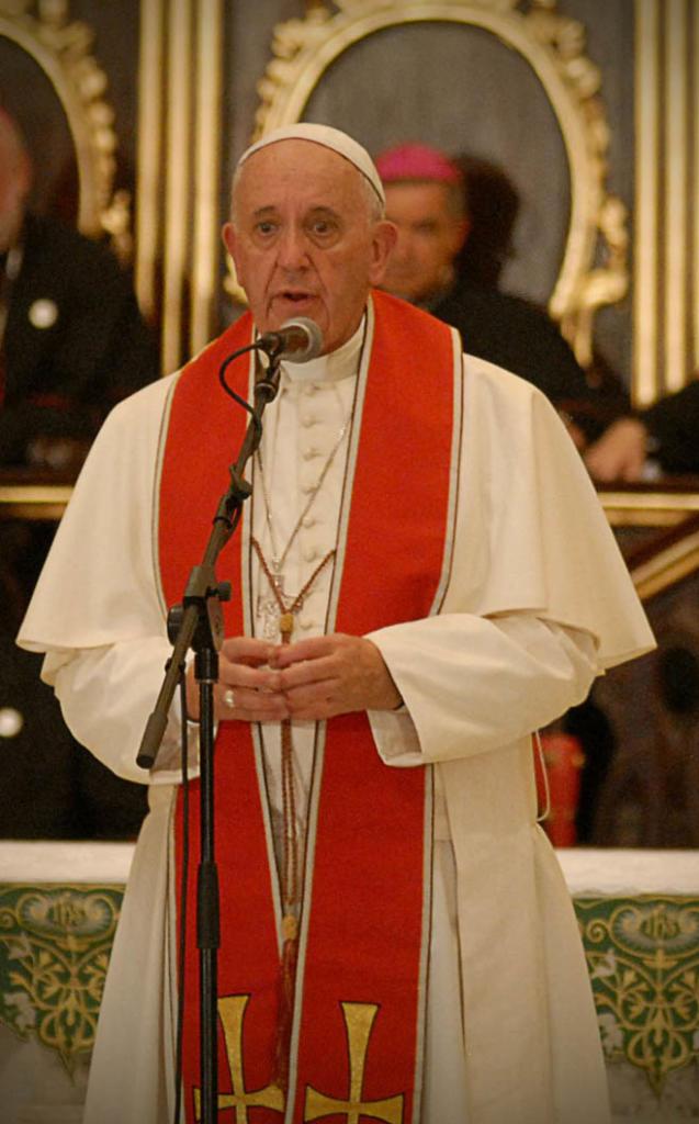 Imagen del Papa Francisco durante la visita a Cuba en septiembre del 2015. | foto: Heriberto González Brito