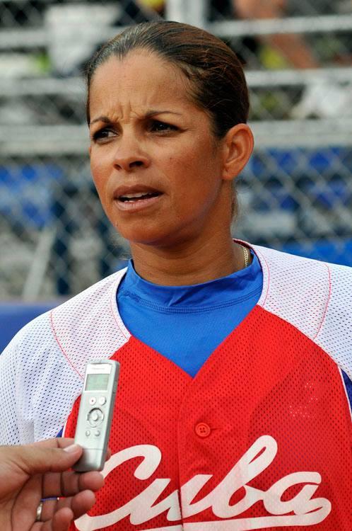 Diamela Puentes, integrante de la selección femenina de sóftbol. Foto: José Raúl Rodríguez Robleda