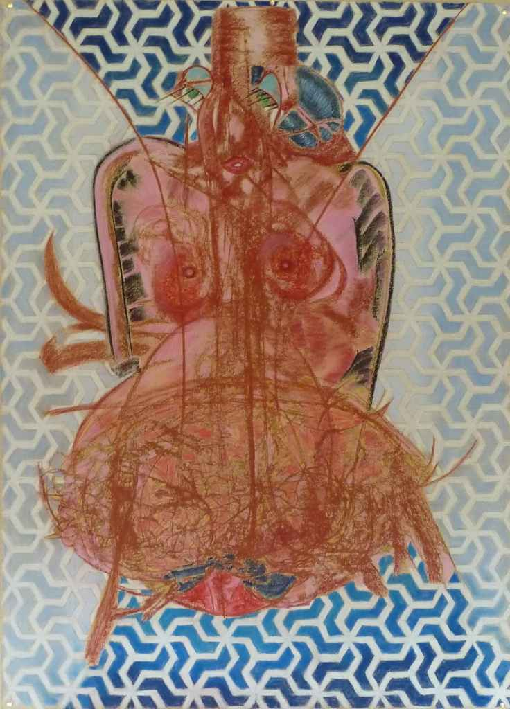 mme UBU /// 100X150cm dry pastels on paperBruno Rossi artiste peintre Paris 2008 2012