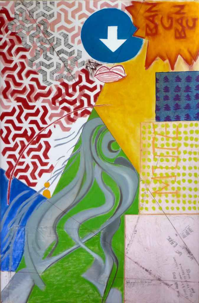 ...iste /// 100X150cm mixed media on mounted paper