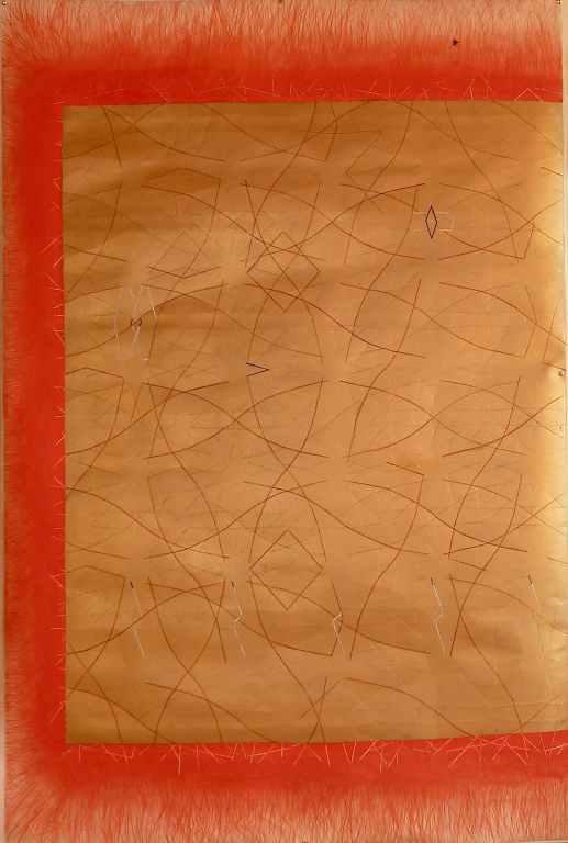 gold rush /// 100X150cm mixed media on mounted paper © Bruno Rossi dessinateur/ designer Paris 2008 2012