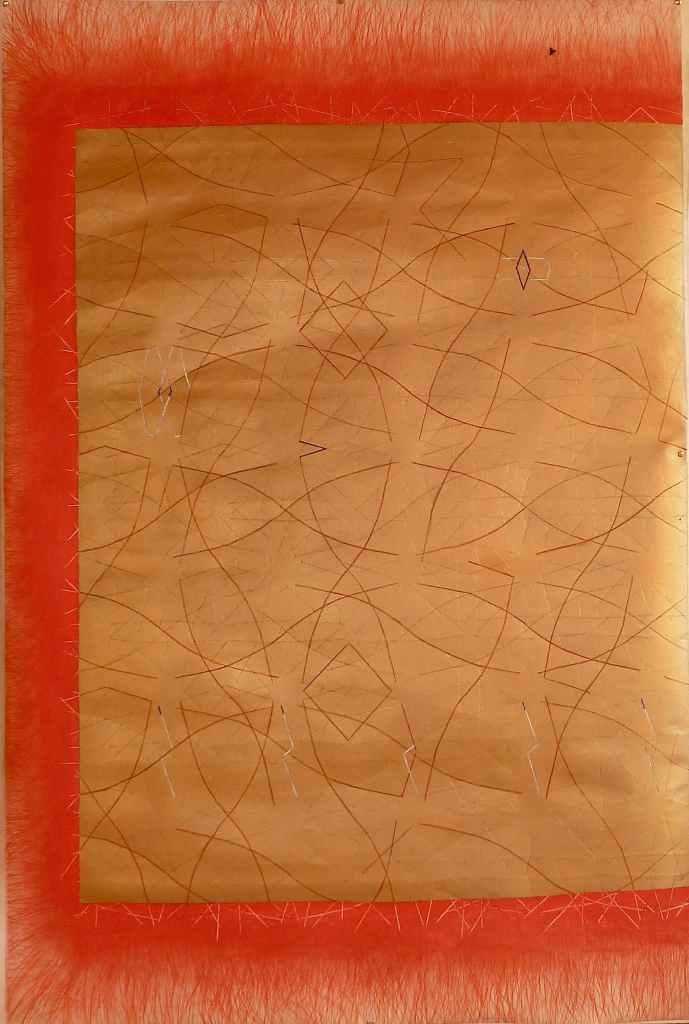 gold rush /// 100X150cm mixed media on mounted paper Bruno Rossi artiste peintre plasticien Paris 2008 2012