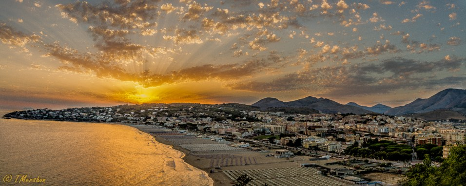 Overview of Gaeta, Italy
