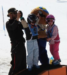 Les Marmotton mascot and medal ceremony