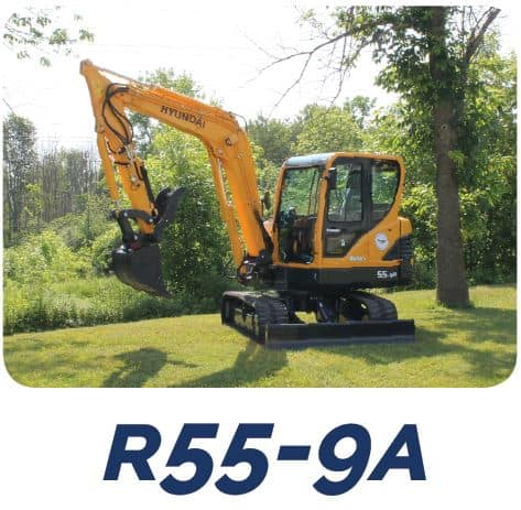 Hyundai Construction R55Z-9A Compact Excavators Tracey Road Equipment