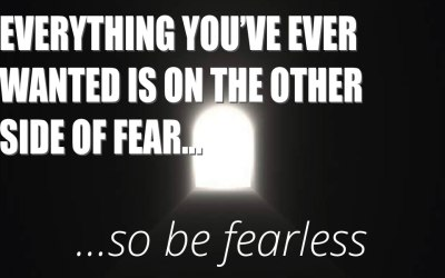 Heading off to see what is on the other side of fear…