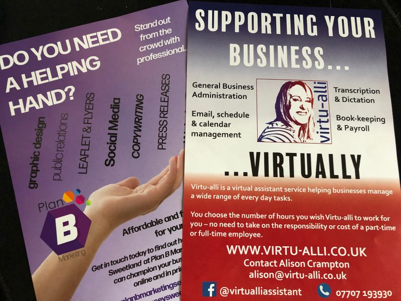 Flyers and leaflets for marketing – video