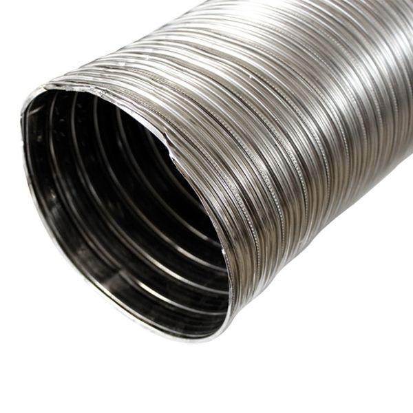 gaine inox flexible double paroi diametre 120 bobine 30 metre