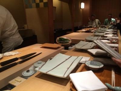 เคาน์เตอร์รับประทานอาหารของ  Ginza Kyubey