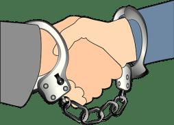 handshake handcuff