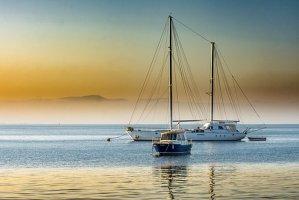 yachts on sea