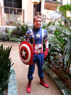 Captain America cosplay at IllogiCon