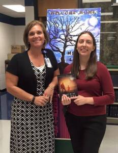 Traci Loudin and Angie Westfall, librarian at BUHS
