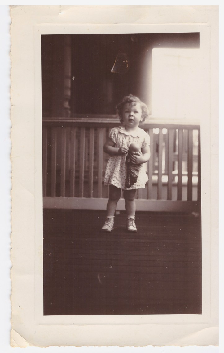 Turkey Birthday Mom as a toddler