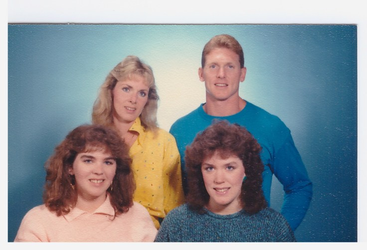 Mom's favorite picture of her kids Back row - Laurie, Todd Front row - Me, Jennifer