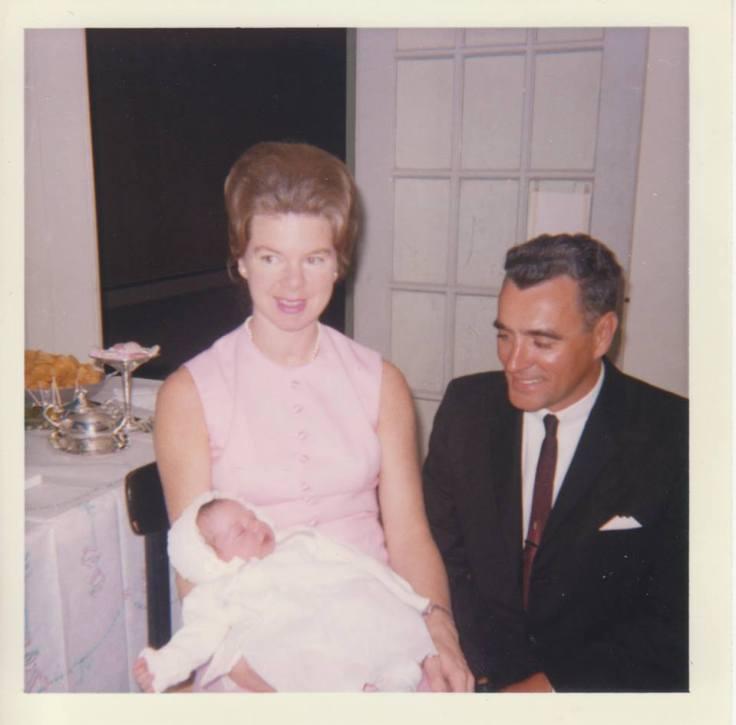Mom & Dad at my christening, 1965