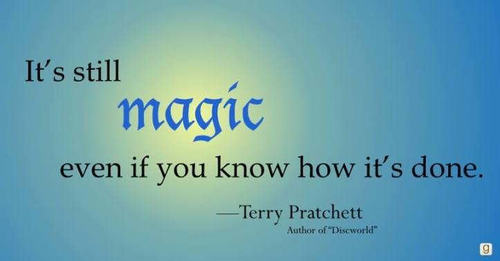 Pratchett quote courtesy of Goodreads